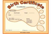 004 Template Ideas Birth Certificate Impressive Free Dog inside Baby Doll Birth Certificate Template