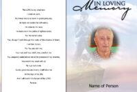 004 Template Ideas Free Printable Funeral Prayer Card regarding Memorial Card Template Word