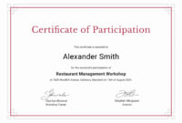 004 Template Ideas Google Docs Certificate How To Create In with Certificate Of Participation In Workshop Template