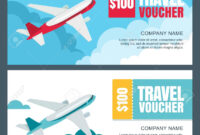 004 Template Ideas Travel Gift Certificate Vector Voucher regarding Free Travel Gift Certificate Template