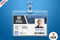 004 University Student Identity Card Psd Id Design Template regarding Id Card Design Template Psd Free Download