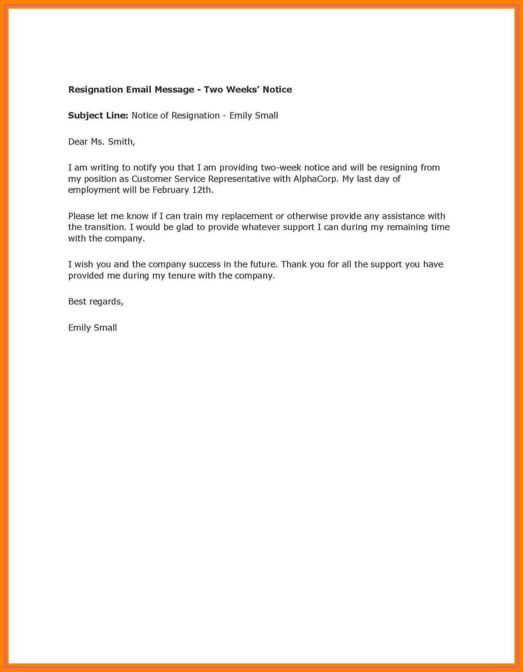 004 Week Notice Template Word Ideas Two Weeks Letter Example Regarding 2 Weeks Notice Template Word