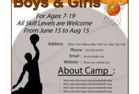 005 Basketball Camp Flyer Brochure Template Free Excellent pertaining to Basketball Camp Brochure Template