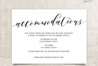 005 Free Wedding Accommodation Card Template Ideas Top Hotel Pertaining To Wedding Hotel Information Card Template