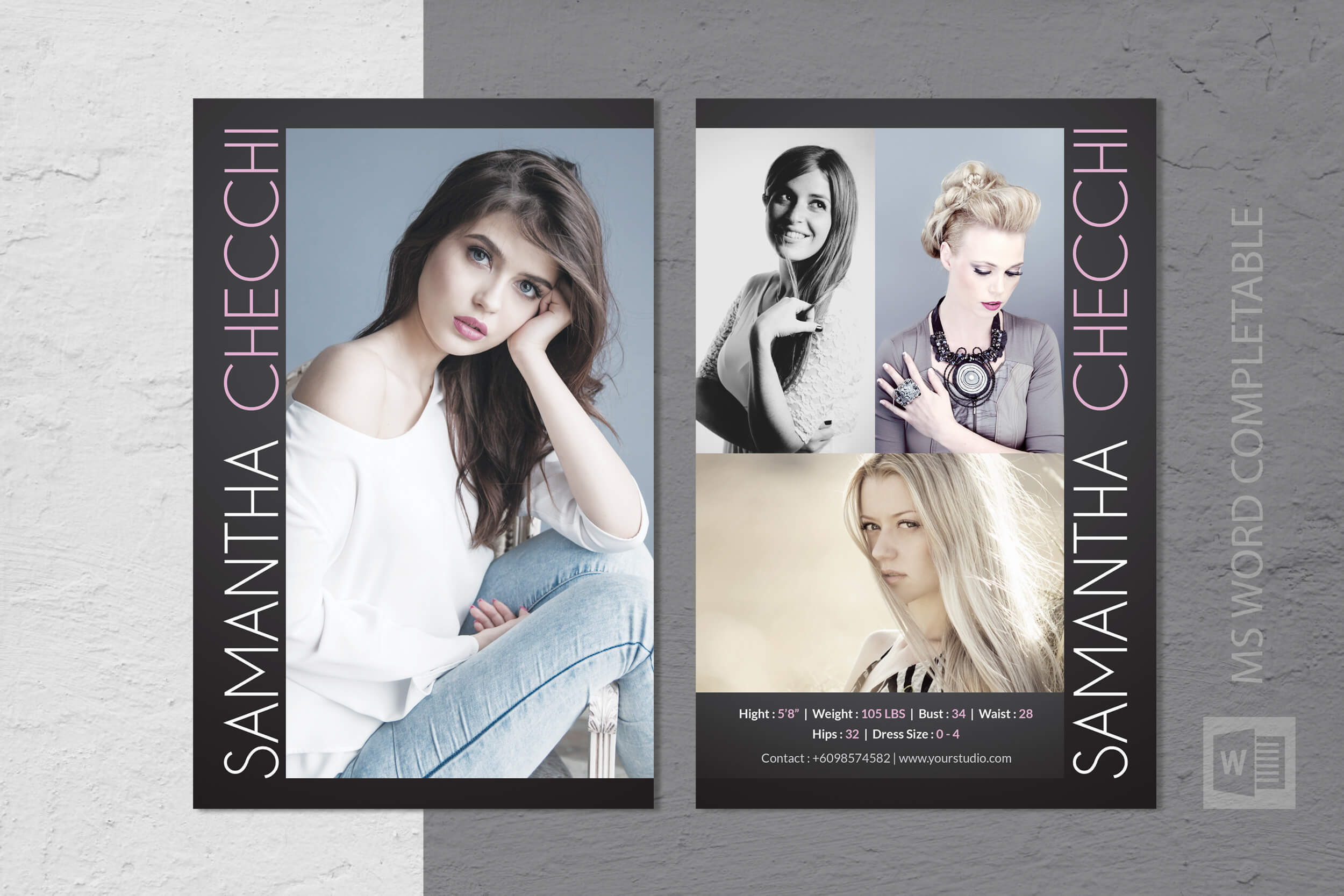 005 Model Comp Card Template Ideas Outstanding Photoshop Pertaining To Comp Card Template Download
