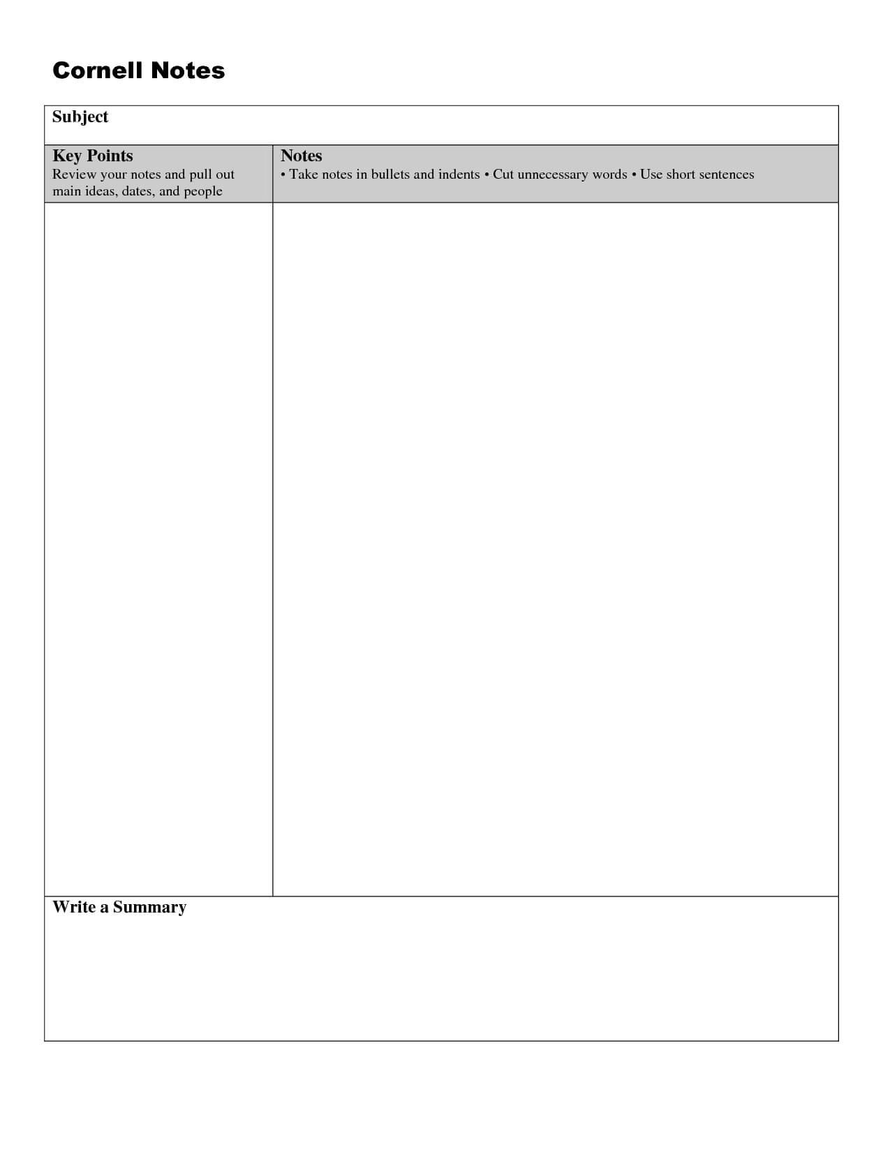 005 Note Taking Template Word Ideas Unforgettable Cornell With Note Taking Template Word