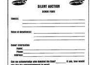 005 Silent Auction Donation Certificate Template Fantastic with Donation Certificate Template