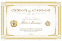005 Template Ideas Army Certificate Of Achievement Microsoft within Certificate Of Achievement Army Template
