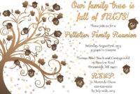 005 Template Ideas Family Reunion Invitations Magnificent pertaining to Reunion Invitation Card Templates