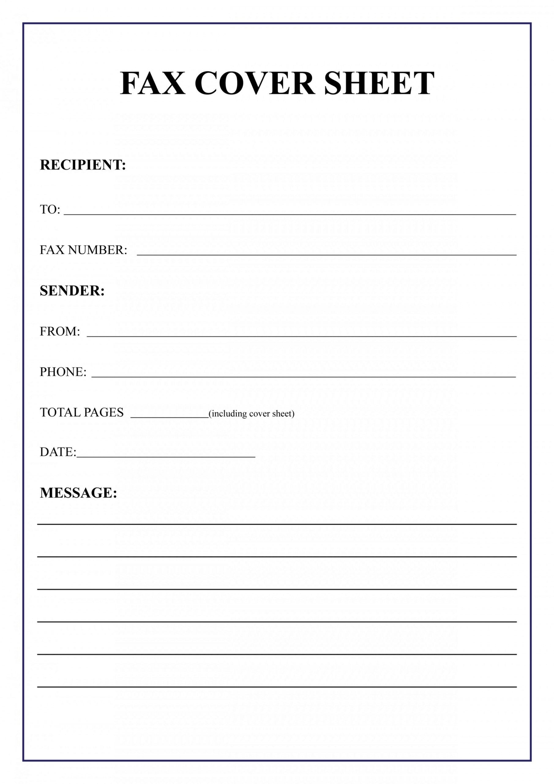 005 Template Ideas Free Fax Cover Sheet Templates For Throughout Fax Cover Sheet Template Word 2010