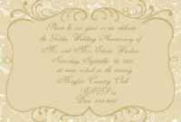 006 50Th Anniversary Invitation Template Ideas Top Wedding intended for Sample Wedding Invitation Cards Templates