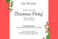 006 Free Christmas Save The Date Templates For Word Holiday pertaining to Save The Date Powerpoint Template