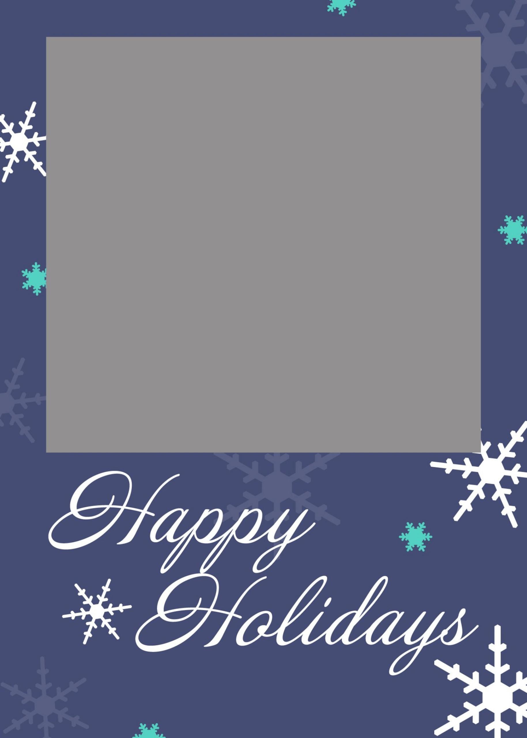 006 Free Holiday Photo Card Templates Printable Greeting Regarding Free Holiday Photo Card Templates