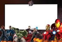 006 Free Online Superhero Birthday Invitation Templates throughout Avengers Birthday Card Template