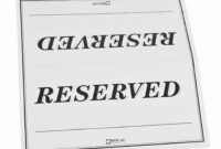 006 Free Printable Reserved Table Signs Template Tent Best Intended For Reserved Cards For Tables Templates