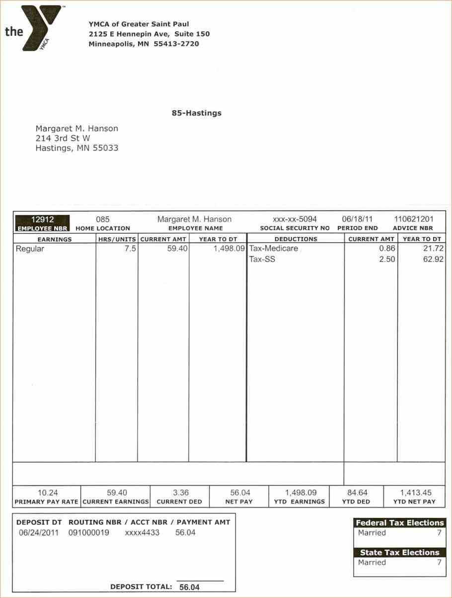 006 Pay Stub Template Word Excellent Ideas Download Document Inside Pay Stub Template Word Document