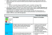 006 Project Executive Summary Template Excel Doc Ideas intended for Executive Summary Project Status Report Template