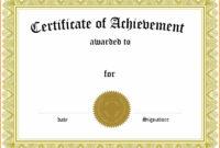 006 Template Generic Certificate Martial Arts Gift Templates pertaining to Generic Certificate Template