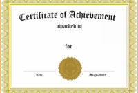 006 Template Generic Certificate Martial Arts Gift Templates regarding Generic Certificate Template