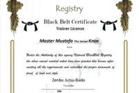 006 Template Generic Certificate Martial Arts Gift Templates within Generic Certificate Template
