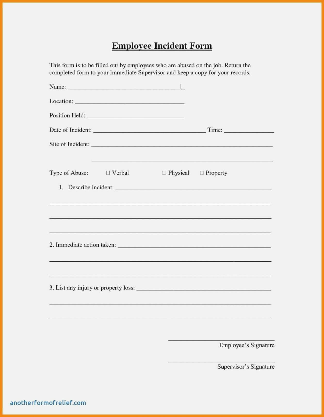 006 Template Ideas Generic Incident Report Seven To Organize In Mi Report Template