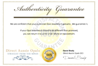 007 Certificate Of Authenticity Template Free Aplg intended for Certificate Of Authenticity Template