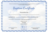 007 Certificate Of Baptism Template Ideas Unique Broadman throughout Roman Catholic Baptism Certificate Template