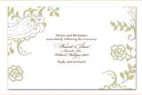 007 Free Printable Funeral Announcement Template Of Best with Funeral Invitation Card Template