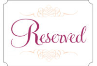 007 Free Printable Reserved Table Signs Template Ideas In Reserved Cards For Tables Templates