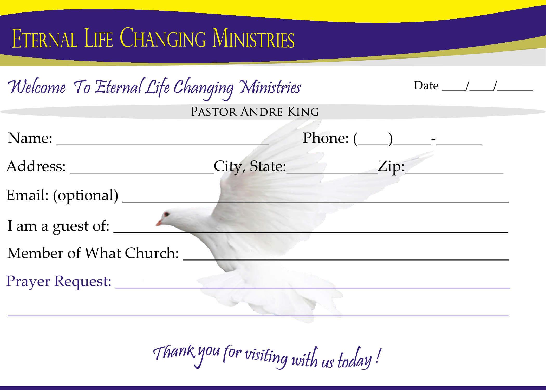 007 Template Ideas Eternal Life Visitor Card Church Throughout Church Visitor Card Template Word