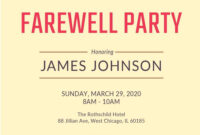 007 Template Ideas Farewell Party Invitation Free Word with regard to Retirement Card Template