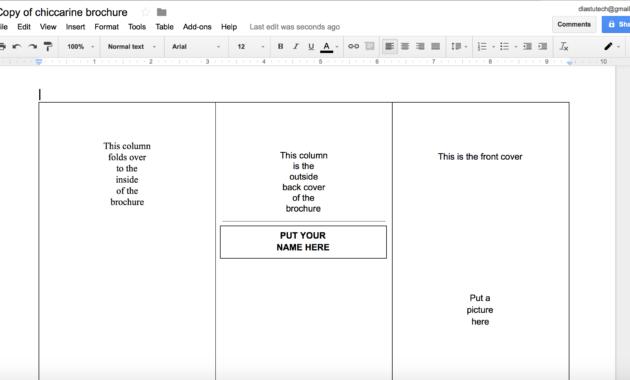 007 Tri Fold Template Google Docs Brochure Templates Luxury for Brochure Templates Google Docs