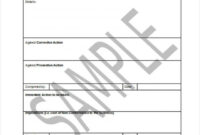 008 Corrective Action Form Template Ideas Non Conformance in Quality Non Conformance Report Template