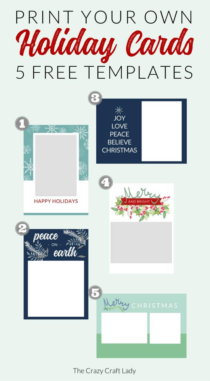 009 Free Printable Holiday Photo Card Templates Template With Regard To Printable Holiday Card Templates