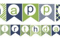009 Happy Birthday Banner Template Unbelievable Ideas with Free Printable Happy Birthday Banner Templates