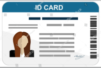 009 Id Card Format Photoshop Flat Design Template Awful with regard to Pvc Id Card Template