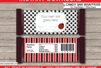 009 Ladybug Hershey Candy Bar Wrapper Template Awesome Ideas within Candy Bar Wrapper Template Microsoft Word