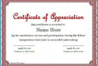009 Printable Certificate Of Appreciation Template Free with regard to Certificate Of Participation Template Ppt