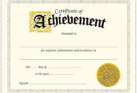 009 Template Ideas Outstanding Certificate Of Achievement in Certificate Of Achievement Template Word