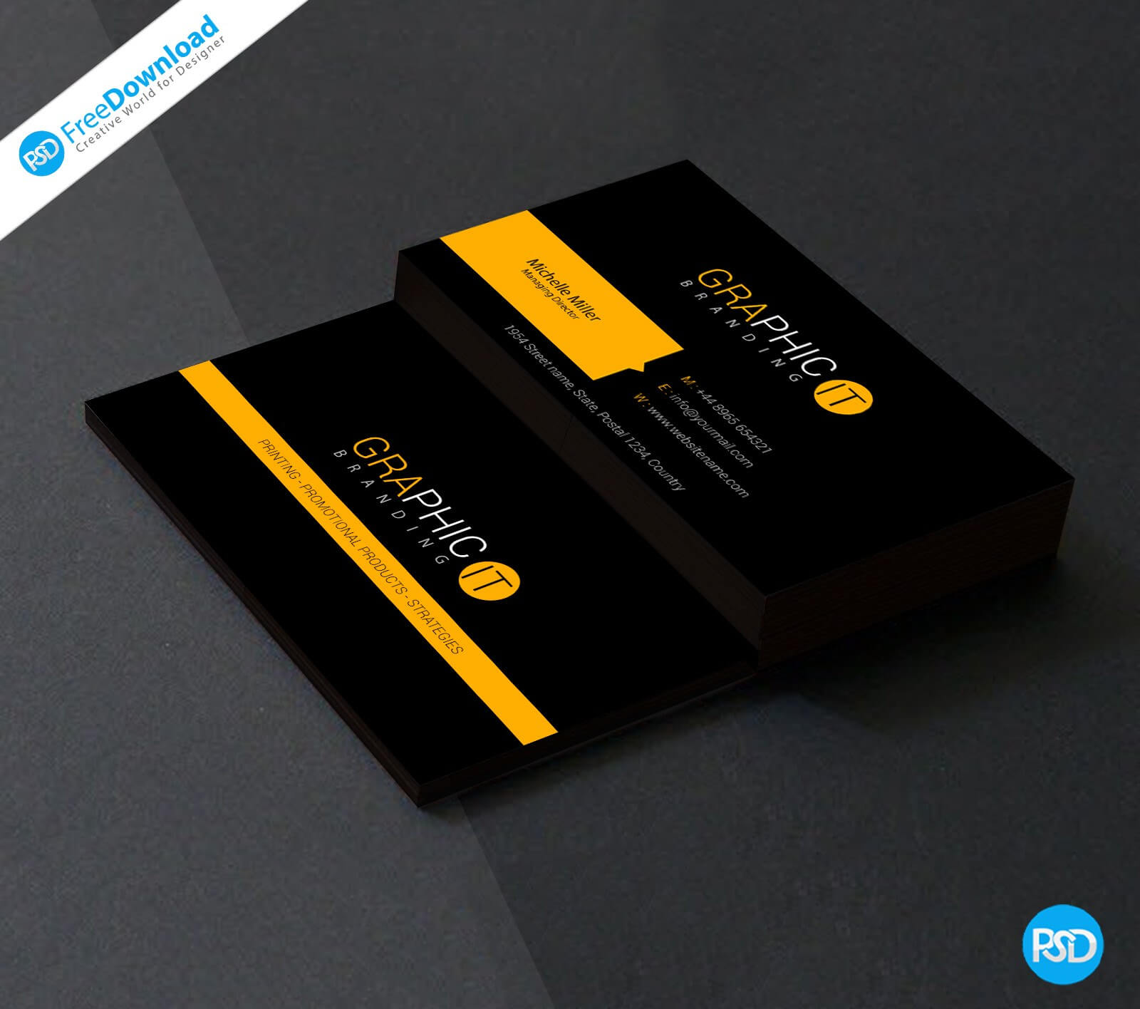 009 Template Ideas Photography Visiting Card Design Psd File Throughout Name Card Template Psd Free Download