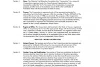 011 Corporate Bylaws Template Pdf Ideas Remarkable Sample pertaining to Corporate Bylaws Template Word
