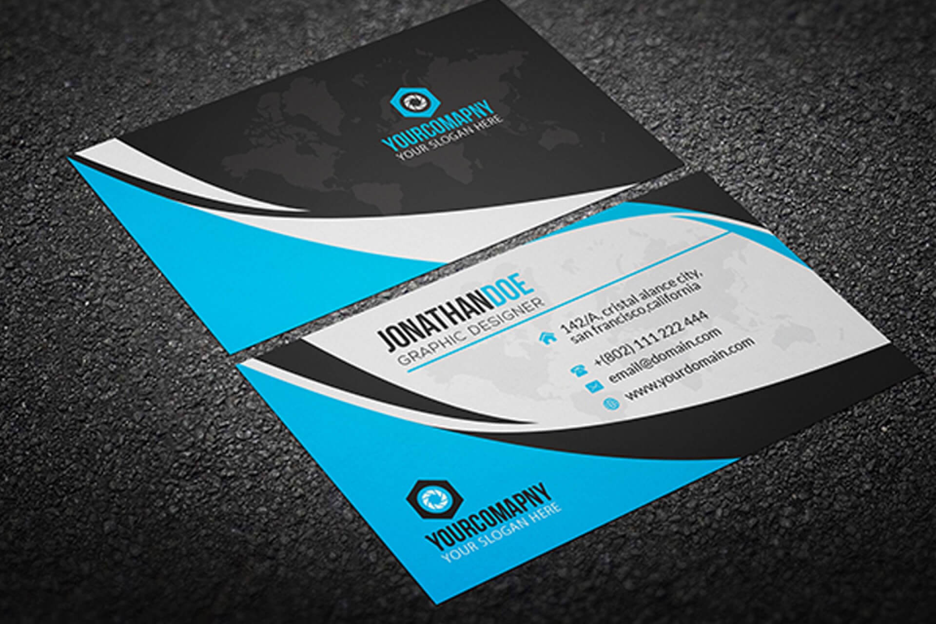 011 Creative Business Card Template Psd Cards Templates In Free Complimentary Card Templates