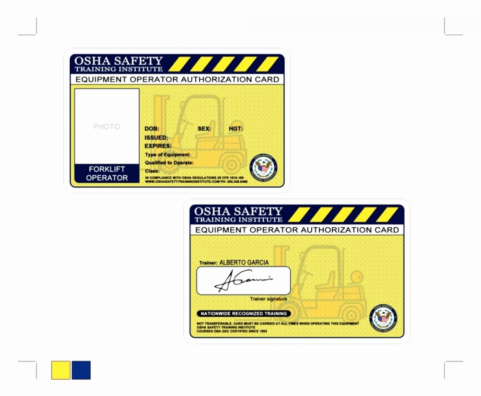 011 Free Printable Forklift License Template Then Intended For Forklift Certification Card Template