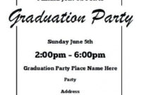 011 Graduation Party Invitation Template Free Templates with Graduation Party Invitation Templates Free Word