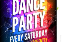 011 Party Flyer Design Templates Free Download Template In Dance Flyer Template Word