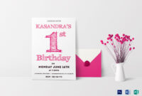 011 Pink Color Birthday Card Party Invitation Ms Word with regard to Birthday Card Publisher Template