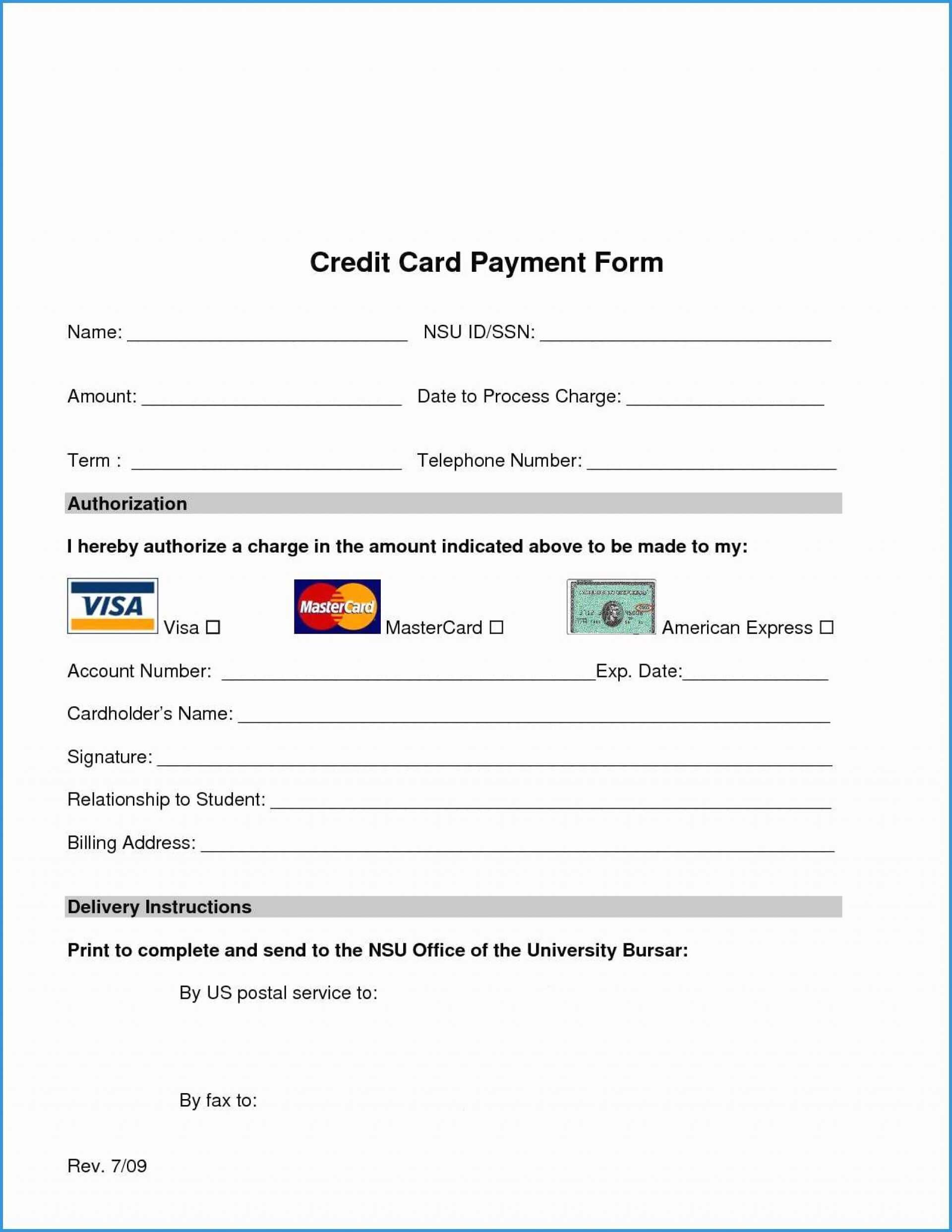 011 Template Ideas Credit Card Authorization Pdf Free Form Intended For Credit Card Authorization Form Template Word