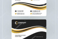012 Depositphotos 135019028 Stock Illustration Double Sided with Double Sided Business Card Template Illustrator