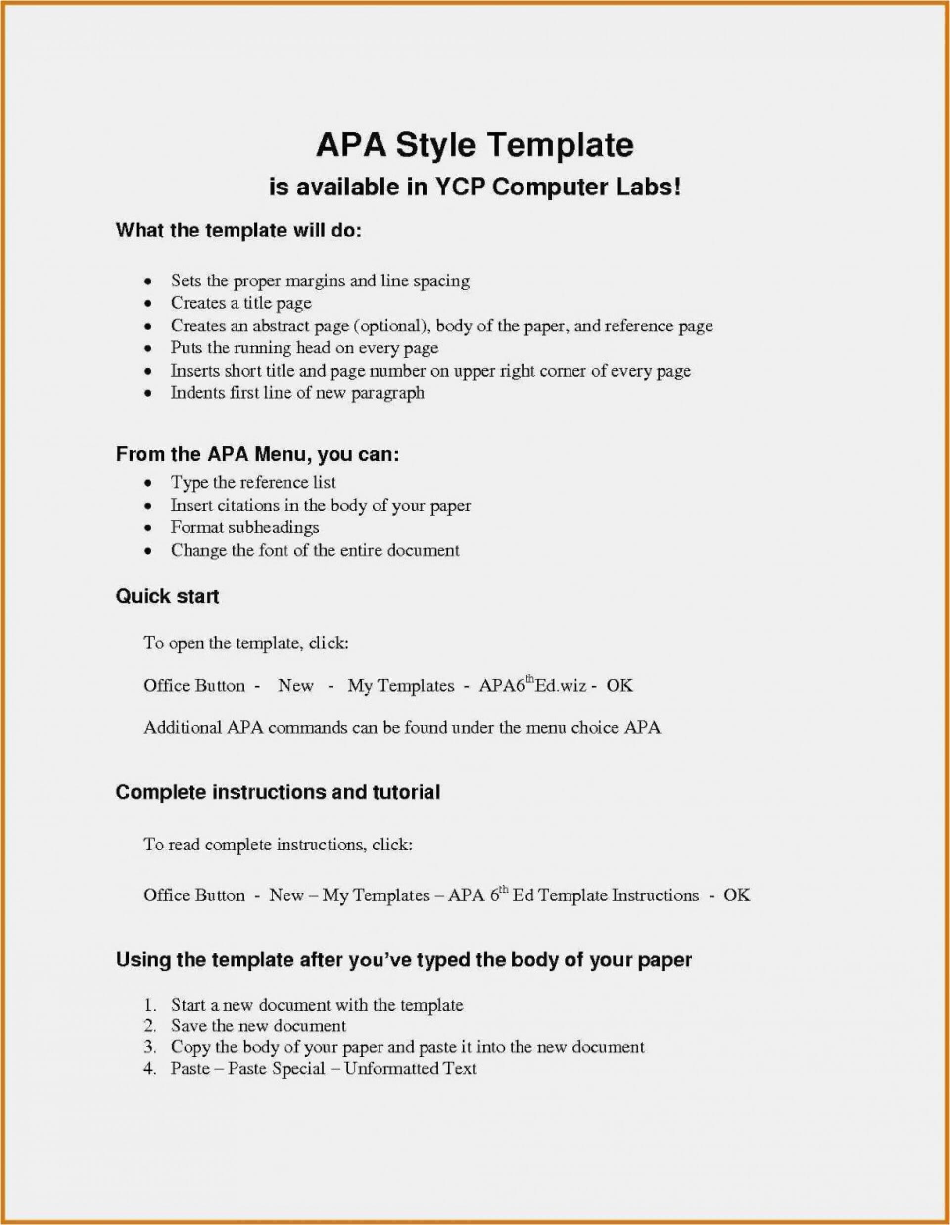 012 Template Ideas Apa Reference Page Format In Word Style Inside Apa Word Template 6Th Edition