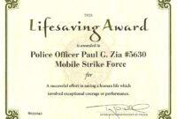 013 Award Certificate Sample Wording Template Exceptional in Life Saving Award Certificate Template